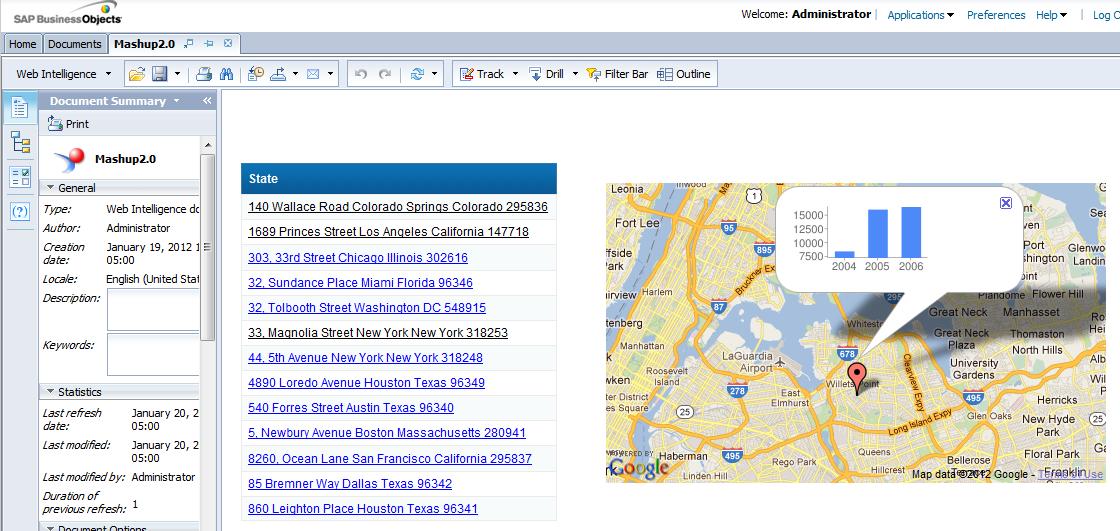 Google maps in webi 4 0 mashup | BI HAPPY